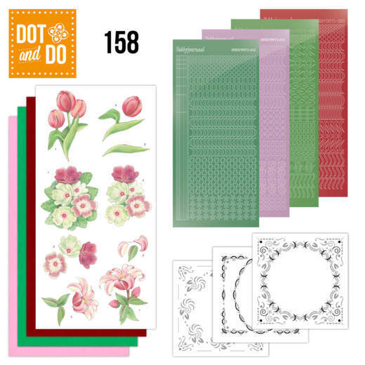 Dot and Do 158 Red Flowers