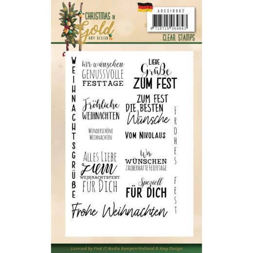 Clear Stamps - Amy Design - Christmas in Gold - Text DE