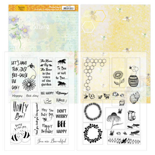 Mica Sheets - Jeanines Art - Buzzing Bees