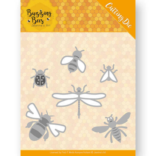 Dies - Jeanines Art - Buzzing Bees - Set of Bugs