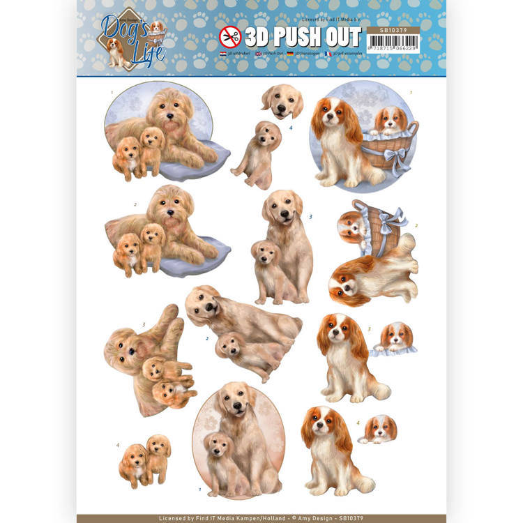 3D Pushout - Amy Design - Dog's Life - Dog Mommy  Amy Design  SB10379