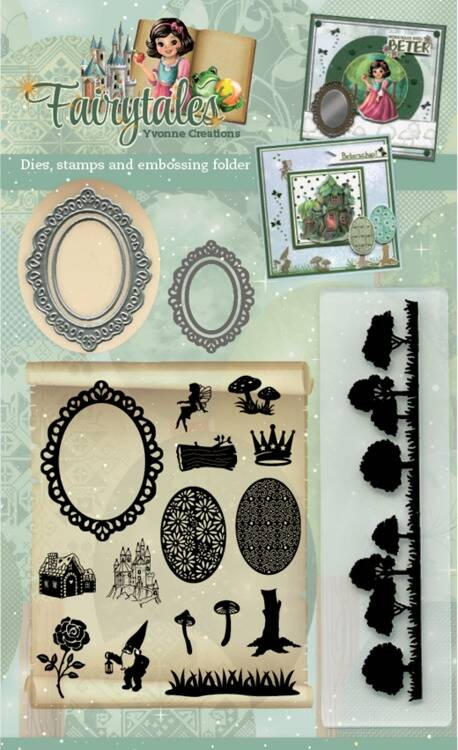 Goody (Clear Stamps - Dies - Embossing Folder) - Yvonne Creations - Fairytales  Amy Design