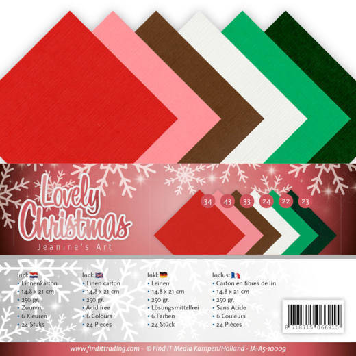 Linnenpakket - A5 - Jeanine's Art - Lovely Christmas