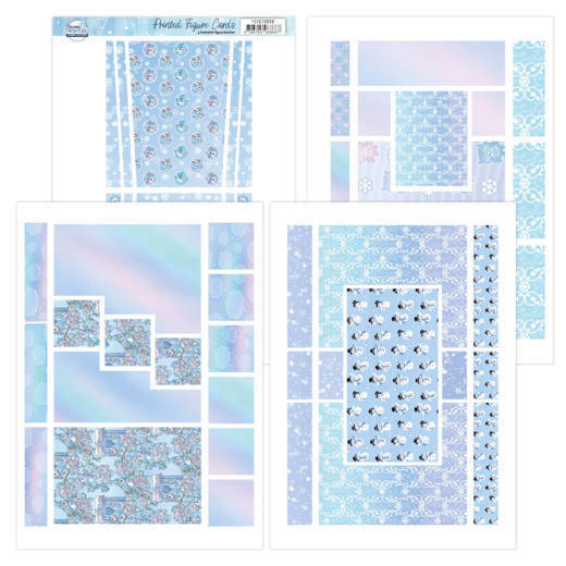 Printed Figure Cards - Yvonne Creations - Sparkling Winter