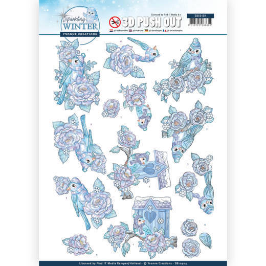 3D Pushout - Yvonne Creations - Sparkling Winter - Winter Birds