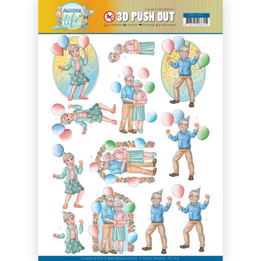 3D Pushout - Yvonne Creations - Active Life - Party Together