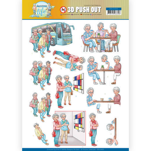 3D Pushout - Yvonne Creations - Active Life - With Friends
