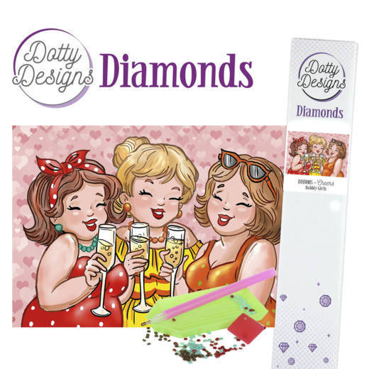 Dotty Designs Diamonds - Bubbly Girls - Cheers DDD10005