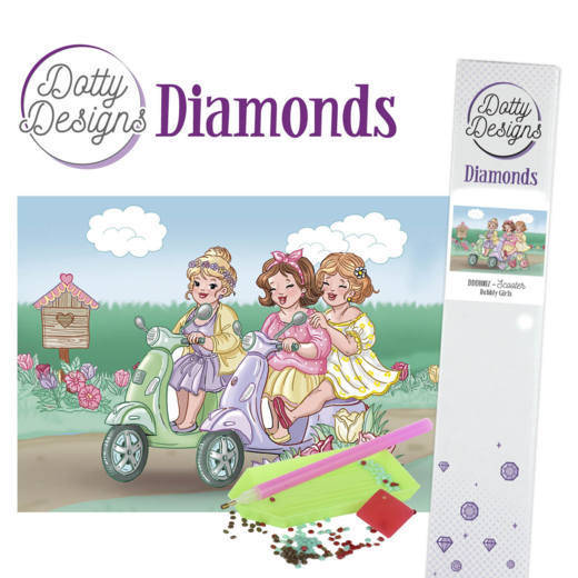 Dotty Designs Diamonds - Bubbly Girls - Scooter DDD10007