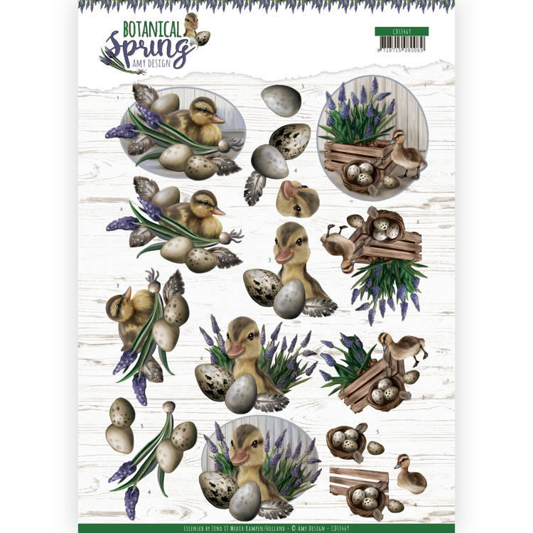 3D cutting sheet - Amy Design - Botanical Spring - Happy Ducks