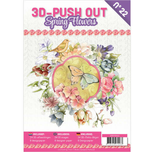 3D Push Out boek 22 - Spring Flowers