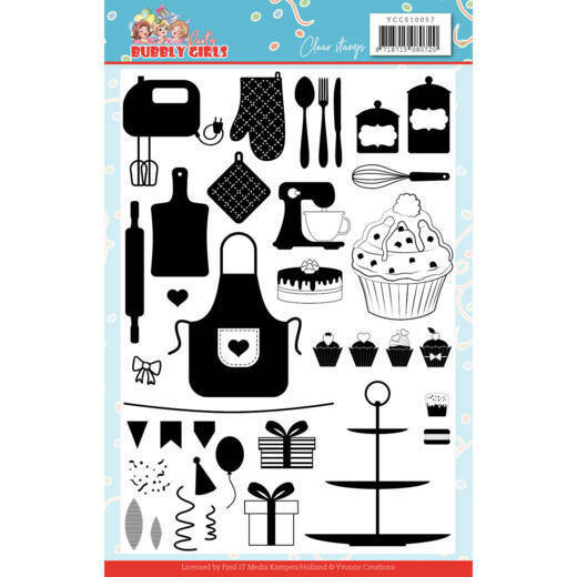 Clear Stamps - Yvonne Creations - Bubbly Girls - Party