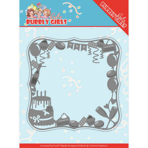 Dies - Yvonne Creations - Bubbly Girls Party - Celebrations Frame