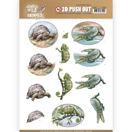 3D Pushout - Amy Design - Wild Animals Outback - Reptiles
