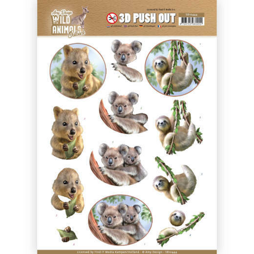 3D Pushout - Amy Design - Wild Animals Outback - Koala