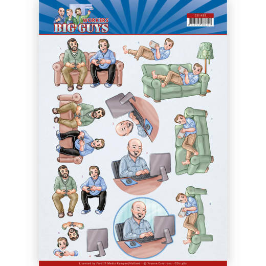 3D Cutting sheet - Yvonne Creations - Big Guys - Workers - Gaming