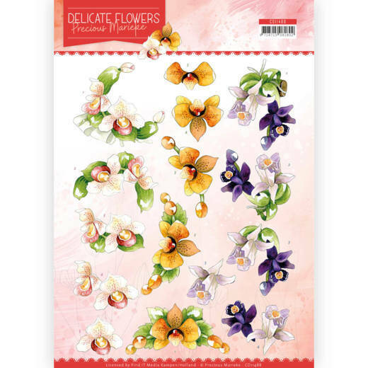 3D Cutting sheet - Precious Marieke - Delicate Flowers - Orchid