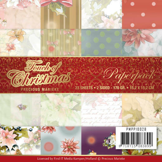 Paperpack - Precious Marieke - Touch of Christmas