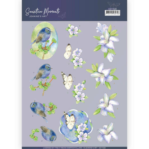 3D Cutting Sheet - Jeanine's Art - Sensitive Moments - Lily