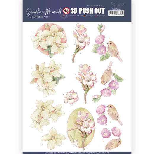 3D Push Out - Jeanine's Art - Sensitive Moments - Freesias