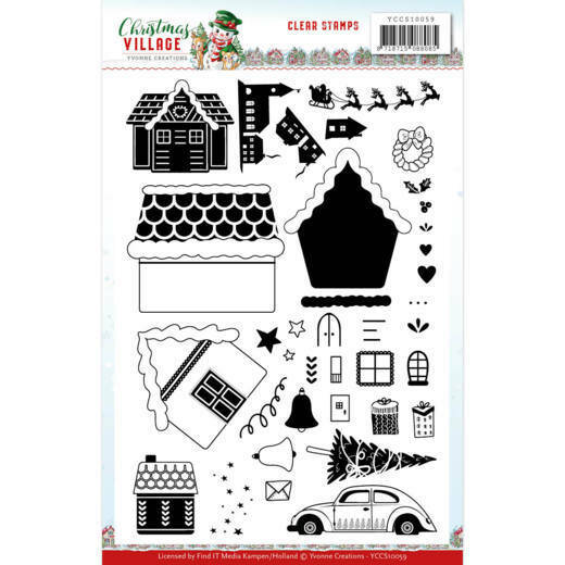 Clear Stamps - Yvonne Creations - Christmas Village