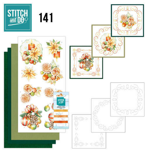 Stitch and Do 141 - Jeanine's Art - Salmon Christmas Baubles