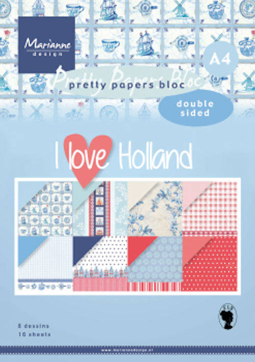 Pretty Papers bloc DZ I love Holland
