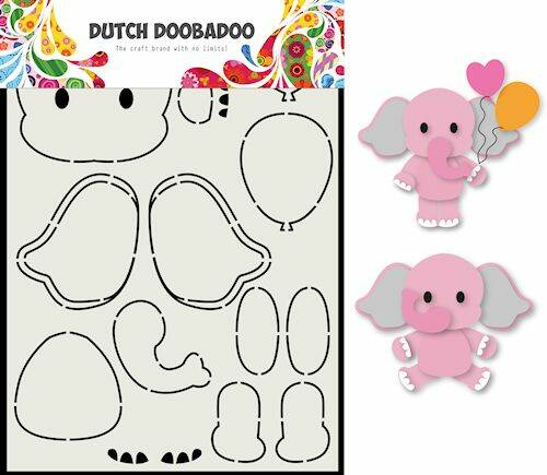DDBD Dutch Card Art Olifant A5