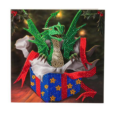 """Dragon Gift"" Crystal Art Card Kit"