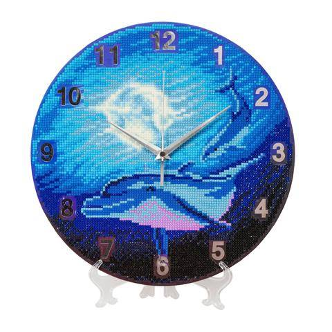 """Watery Moon"" Crystal Clock Kit - 30cm"