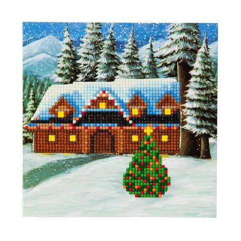 "CCK-XM10: ""Christmas Cottage"" Crystal Card Kit"