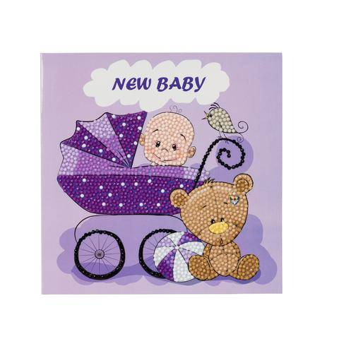 """CCK-A22: """"New Baby"""" Crystal Card Kit"""