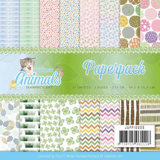 Paperpack - Jeanine's Art - Young Animals JAD10068