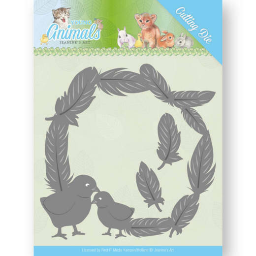 Dies JAD10067 Jeanine's Art - Young Animals - Feathers all Around