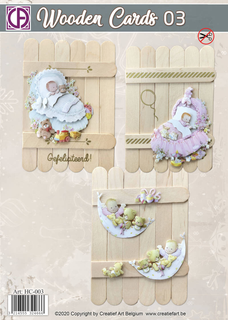 Wooden Cards 03 - Baby