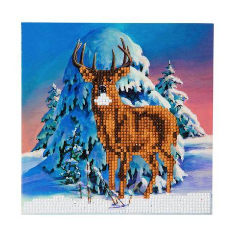 """CCK-XM5: """"Winter Stag"""" Crystal Card Kit"""