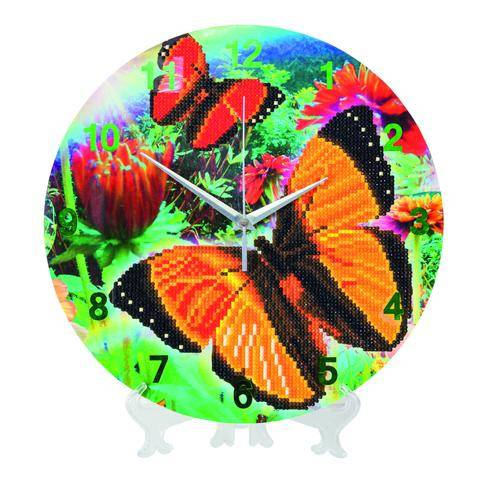 "CLK-S7: ""Beautiful Butterflies"" Crystal Clock Kit - 30cm"