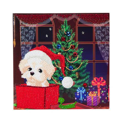"""CCK-XM4: """"Puppy for Christmas"""" Crystal Card Kit"""