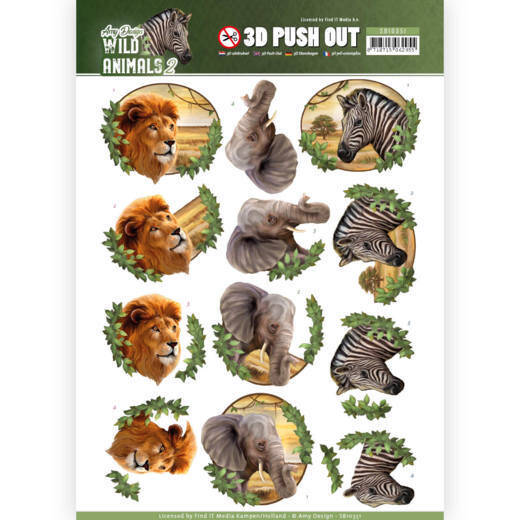 3D Pushout - Amy Design - Wild Animals 2 - Africa  Amy Design