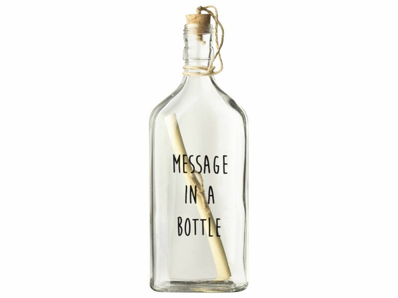 Flessenpost 'message in a bottle'
