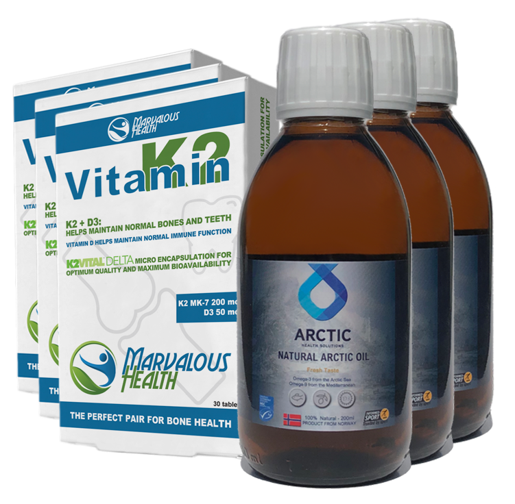 Combi 3+3 AHS Natural Arctic Oil + Vitamine K2/D3