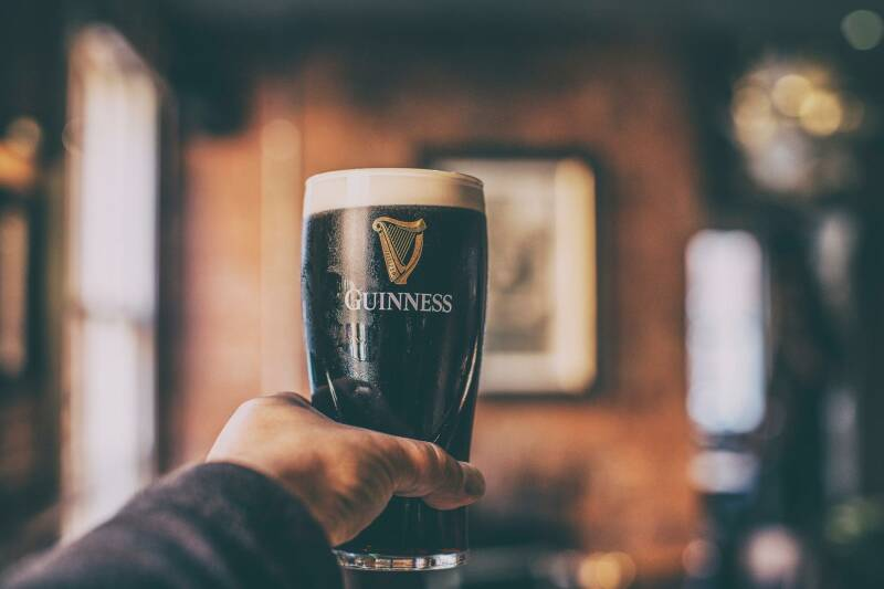 Free Guinness collectors glass