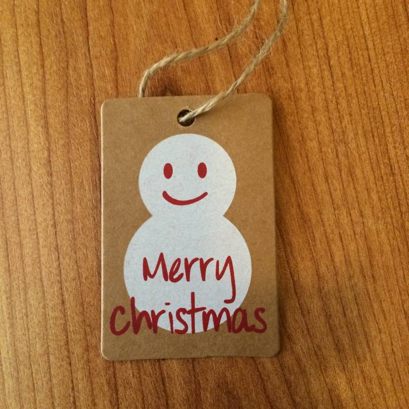 kerst hanger tag merry christmas