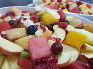 Fruitsalade in meloen