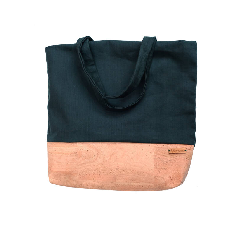 Canvas shopper - Flessengroen