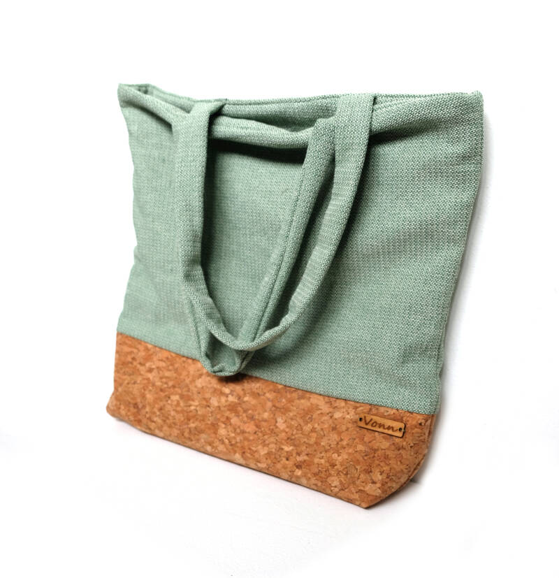Canvas shopper - licht groen