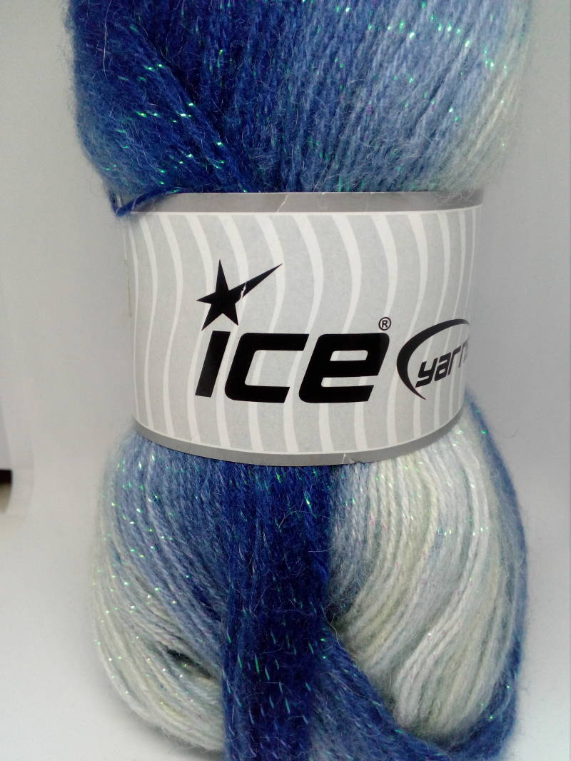 Angora Color Glitz Wit/Blauw