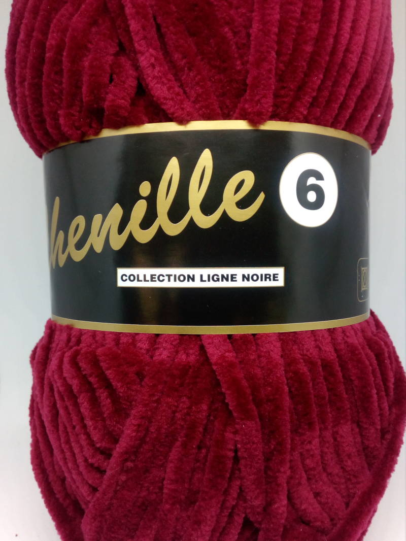 Chenille Wijnrood 042