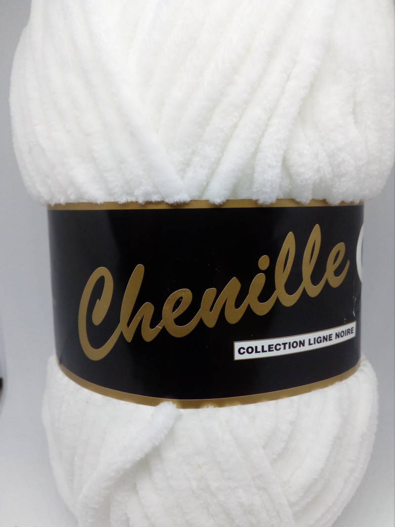 Chenille Wit 005