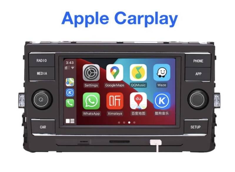 Carplay Mirrorlink  Vw Lamando Golf MK7 Passat B8 Tiguan L Nieuwe octavia